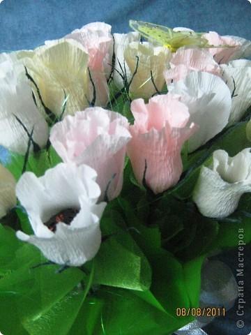 Вот такой букет из 39 конфетных бутонов роз у меня получился. фото 4
