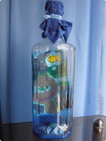........бутылочка создавалась как приложение к подарку для  заядлого рыбака....... фото 2