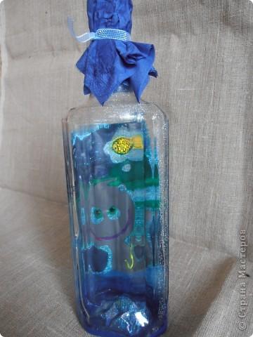 ........бутылочка создавалась как приложение к подарку для  заядлого рыбака....... фото 1
