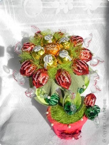 Виноградная гроздь .Состоит из 52 конфеток Марсианка фото 2
