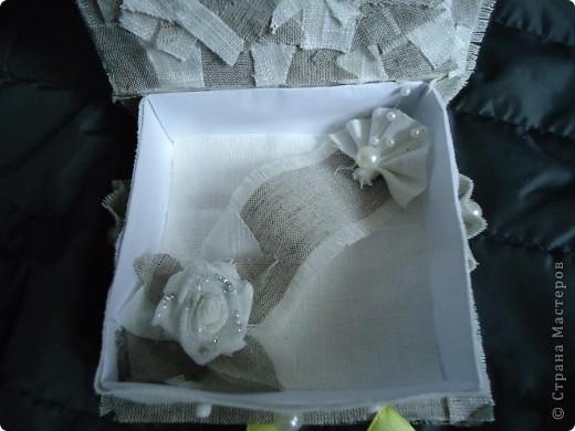 Вот решила попробовать коробочки сделать. Конечно кривоваты, т.к. клеила ткань на бумагу. Но теперь учту свои ошибки фото 5