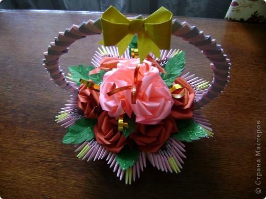 А для милой бабушки розочки да в вазочке (корзиночке) фото 6
