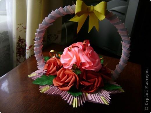 А для милой бабушки розочки да в вазочке (корзиночке) фото 4