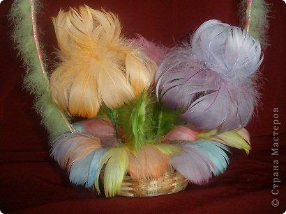 Попробовала сделать несколько букетов из перьев. Вот что получилось. фото 4