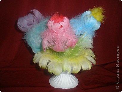 Попробовала сделать несколько букетов из перьев. Вот что получилось. фото 5
