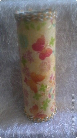 Грустная ваза!!! Первая попытка декорирования бутылки, вижу что есть ошибки, прошу судить не строго! жду ваших комментариев. фото 7
