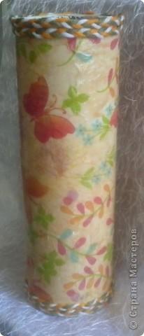 Грустная ваза!!! Первая попытка декорирования бутылки, вижу что есть ошибки, прошу судить не строго! жду ваших комментариев. фото 8