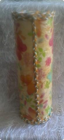 Грустная ваза!!! Первая попытка декорирования бутылки, вижу что есть ошибки, прошу судить не строго! жду ваших комментариев. фото 9