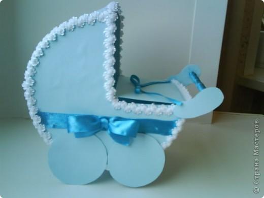 Эта колясочка поехала в гости вместе с зайце тильда, он находится у меня в блоке фото 2