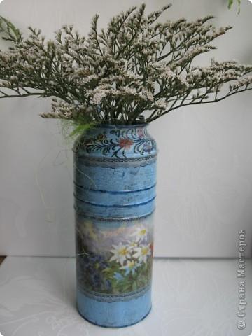 """Набор """"Альпийские цветы"""": бидончик-вазочка; короб для специй, вешалка для полотенца.  фото 2"""