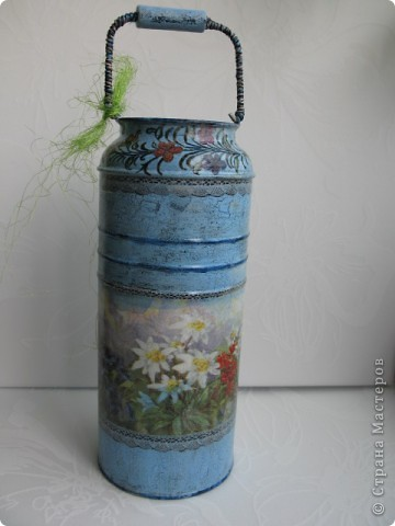 """Набор """"Альпийские цветы"""": бидончик-вазочка; короб для специй, вешалка для полотенца.  фото 3"""