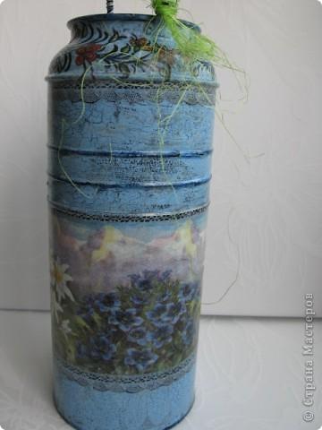 """Набор """"Альпийские цветы"""": бидончик-вазочка; короб для специй, вешалка для полотенца.  фото 5"""