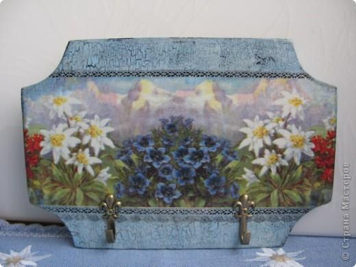 """Набор """"Альпийские цветы"""": бидончик-вазочка; короб для специй, вешалка для полотенца.  фото 10"""