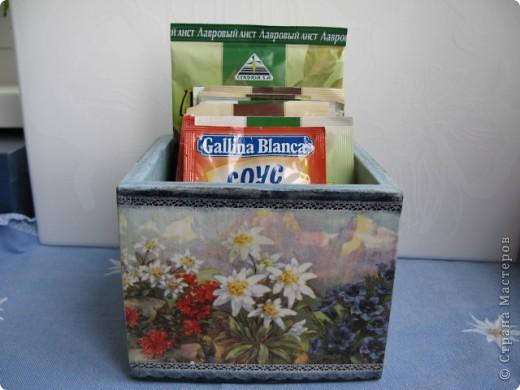 """Набор """"Альпийские цветы"""": бидончик-вазочка; короб для специй, вешалка для полотенца.  фото 6"""