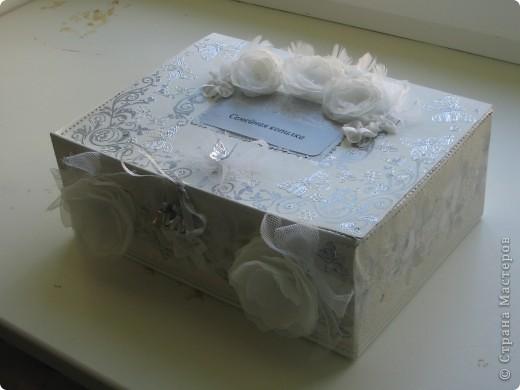 Вот такую замечательную коробочку для свадебных открыток я преподнесла молодожёнам.  фото 3