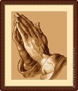 """Знаю, что эта схема от Vervaco. Называется """"Молитва"""". Поделитесь пожалуйста."""