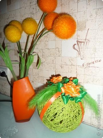 Интерьерные шары из ниток... фото 1