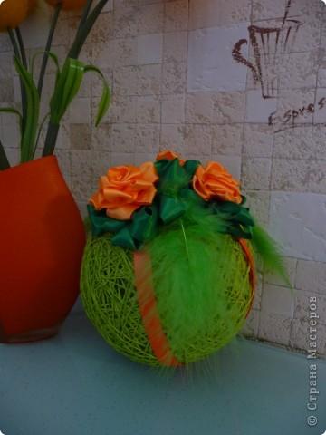 Интерьерные шары из ниток... фото 3
