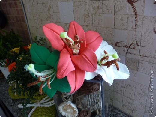 Пробуем лепить лилии... фото 2