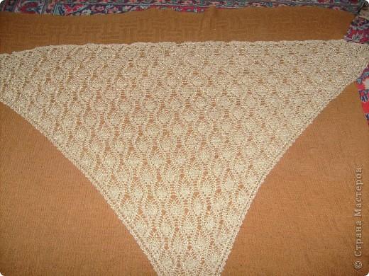Золотая шаль и схема.  фото 2