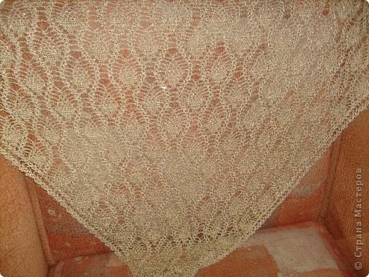 Золотая шаль и схема.  фото 1