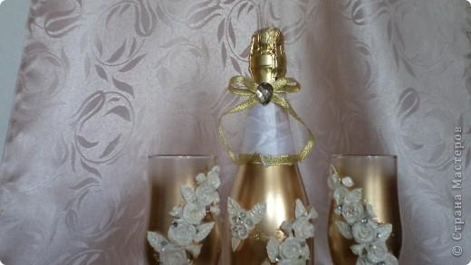 """И опять набор! И опять золото... Так хотелось назвать набор """"золотая лихорадка""""- в городе бум на золотые наборы, и все""""на одно лицо"""". Даже лебедей из набора """" А белый лебедь..."""" заказали тоже в золоте.... фото 2"""