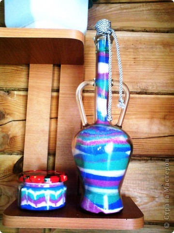Бутылочка с цветной солью фото 2