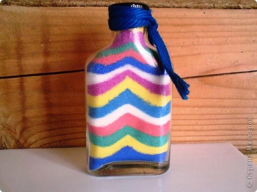 Бутылочка с цветной солью фото 1
