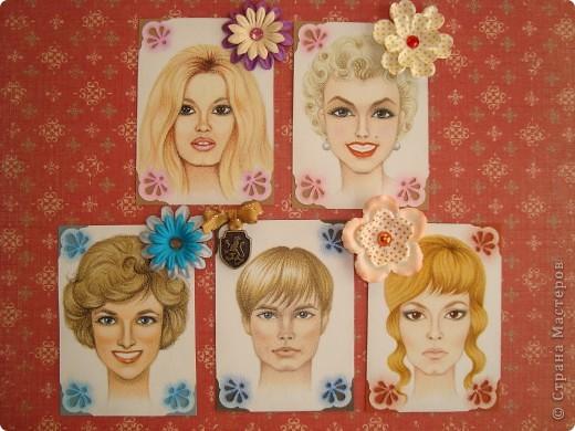 Новая серия миниатюрных портретов от моей сестры! Нарисованны архитектурными фломастерами и акварельными карандашами.  Первой выбирает Анечка Ку, мы давно ей обещали:-)  фото 1