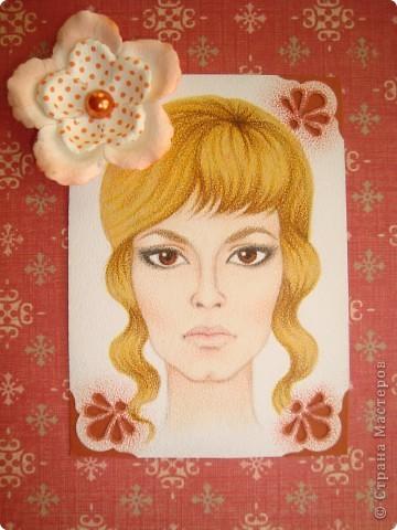 Новая серия миниатюрных портретов от моей сестры! Нарисованны архитектурными фломастерами и акварельными карандашами.  Первой выбирает Анечка Ку, мы давно ей обещали:-)  фото 4