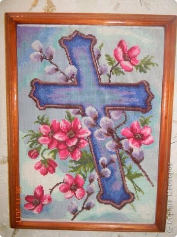 Очень понравился мне этот крест. Вот решилась вышить...