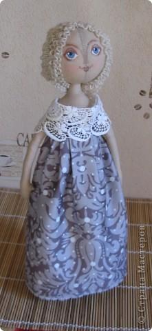 35см. бязь, сатин на платье, акрил, шерстяные нитки. фото 1