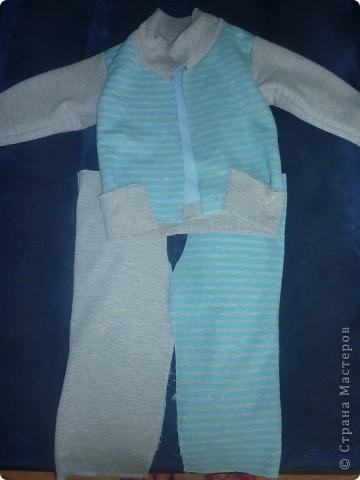 модный костюмчик- из папиной кофты фото 5