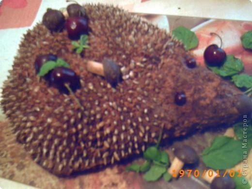 Интересное оформление простого тортика! фото 2