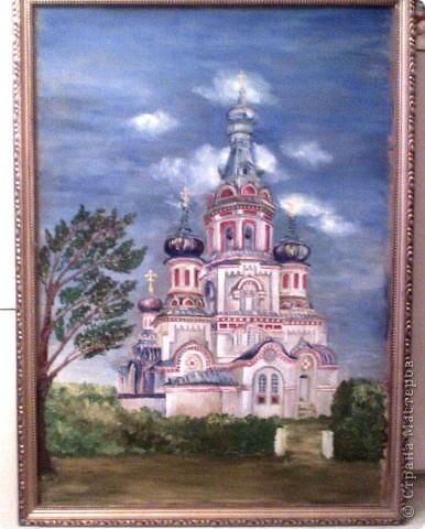 Владимирский СОБОР - масло.Писала с фотки!