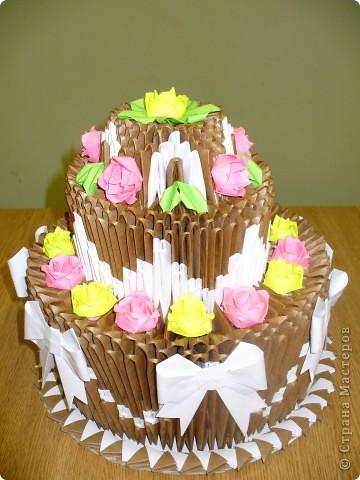 Делала я этот торт на выставку. Дался он мне тяжело. За основу взяла всем известный торт Т.Просняковой. фото 4