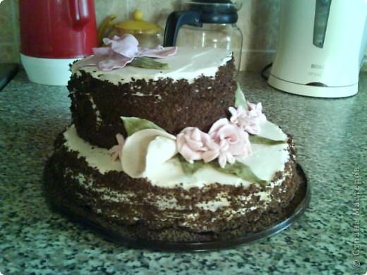 Вот такой тортик я сварганила на День рождение бабушке))) чесно такой большой торт пекла первый раз)) и наконецто получилась мастика, только на этот раз я делала из маршмеллоу а не желатиновую))) фото 9