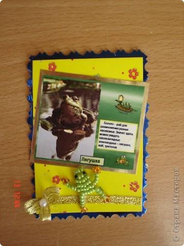 Предлагаю вашему вниманию серию АТС с использованием четырех фотографии фотографа Т. Соколовой и поделок из бисера. Это божьи коровки и веселые лягушата. Названия АТС-это название фото. фото 11