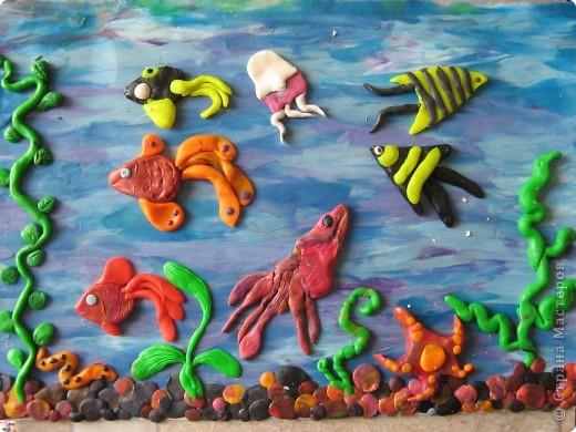 наш аквариум. делали ребятки-дошкольники фото 1