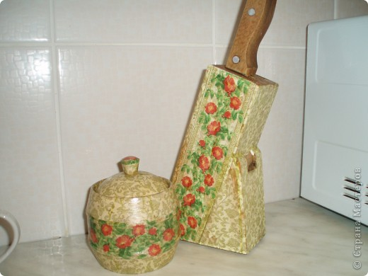 Солонка и подставка для ножей фото 1