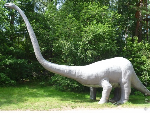 Эти Динозаврки установлены при входе в зоопарк. г. Борос Швеция. Они сделаны в натуральную величину, очень огромные. Детям очень нравится по ним лазить и играть. фото 4