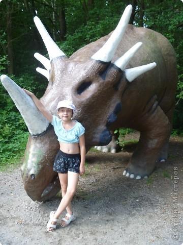 Эти Динозаврки установлены при входе в зоопарк. г. Борос Швеция. Они сделаны в натуральную величину, очень огромные. Детям очень нравится по ним лазить и играть. фото 7
