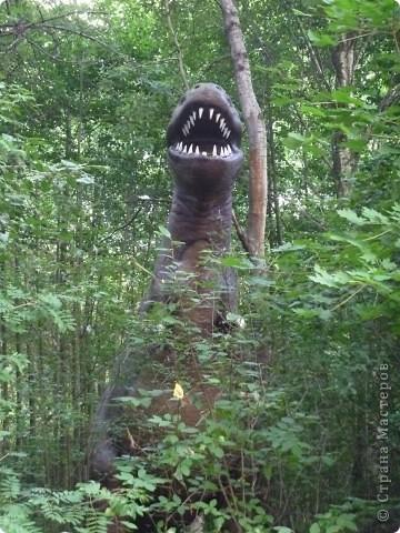 Эти Динозаврки установлены при входе в зоопарк. г. Борос Швеция. Они сделаны в натуральную величину, очень огромные. Детям очень нравится по ним лазить и играть. фото 13