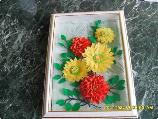 На корейском сайте нашла вот такие цветы, очень понравились, сделала. А вот с оформлением тупиковая ситуация. Попробовала вот такой вариант, что-то не очень нравится... фото 6