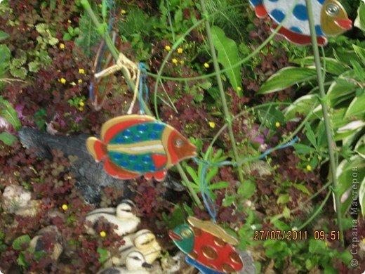 """У нас на даче сухой ручей. Мы решили """"запустить"""" в него рыбок, которых Настюша раскрасила сама. фото 6"""