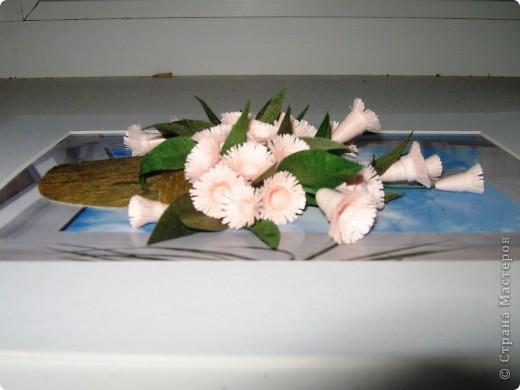 """Давно мечтала сделать цветочки по работе Насти Дватаи """"Белые цветы в горшочке"""" http://stranamasterov.ru/node/84304 . Вот то, что у меня в конечном итоге вышло.  фото 3"""