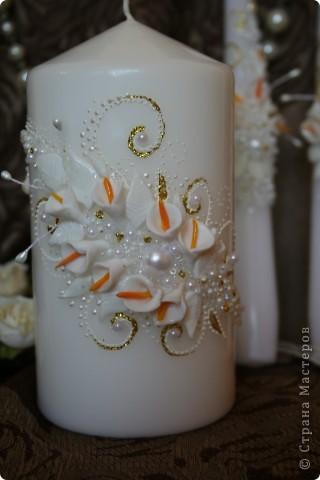 """Набор """"Свадебный"""" :  бокалы, свечи.  фото 4"""