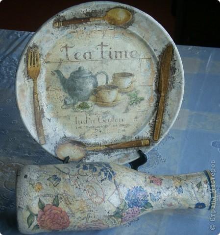 В работе использованы акрил.краски, салфетки, одношаговый кракелюр, клей для декупажа и лак акриловый для саун. фото 8