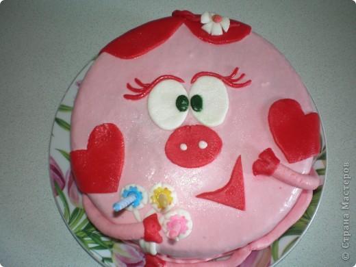 У Милы был день рождения, испекла торт, сделала Нюшу, показала ей, а Мила сказала: мама, а где бараш? :)