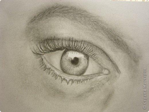 Рисунок глаза карандашом